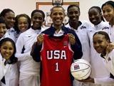 奧巴馬接見美國女籃